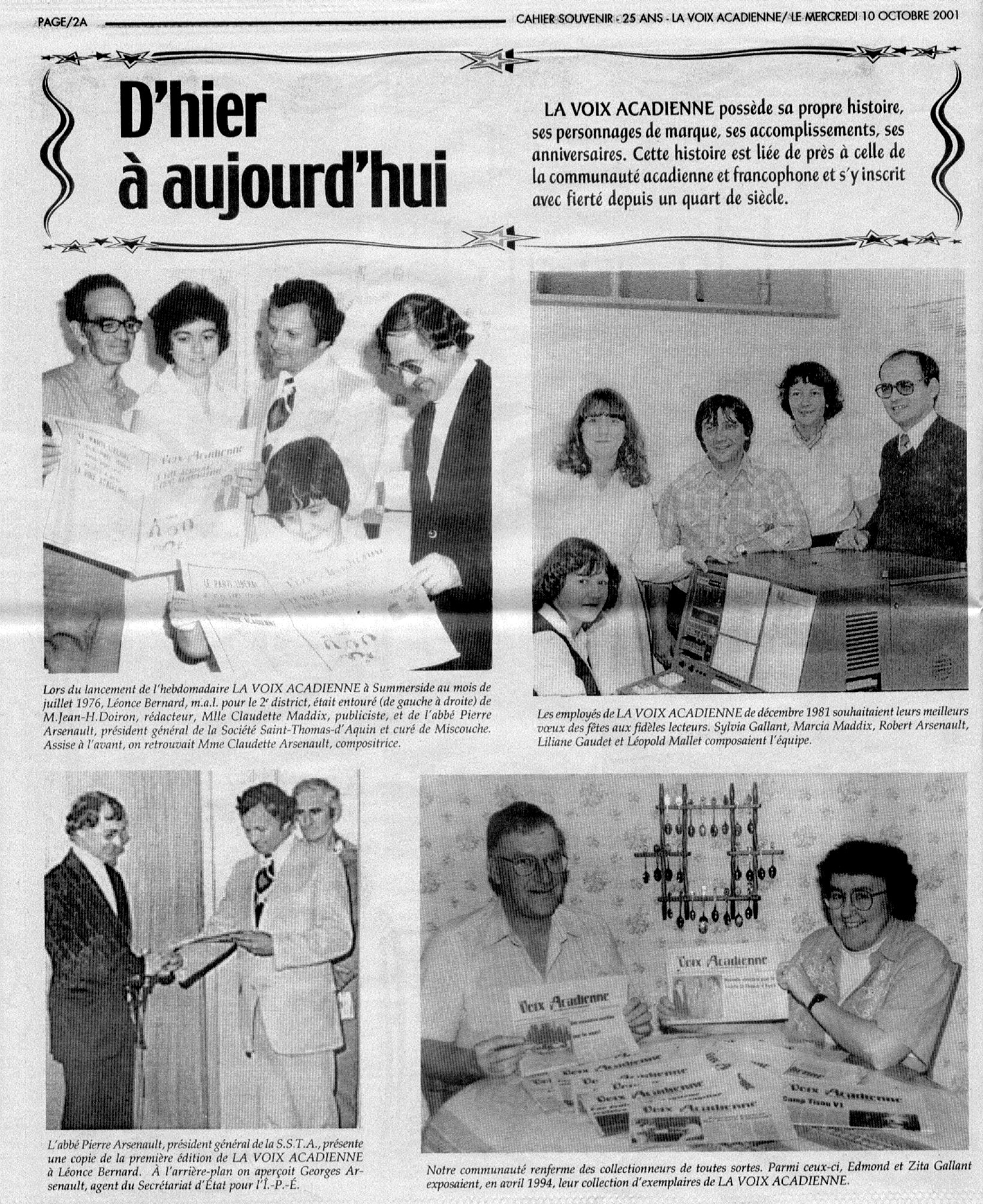 2c13475189a The first edition of La Voix acadienne hits the stands in Prince ...