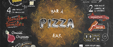 Bar à pizza – Affiche