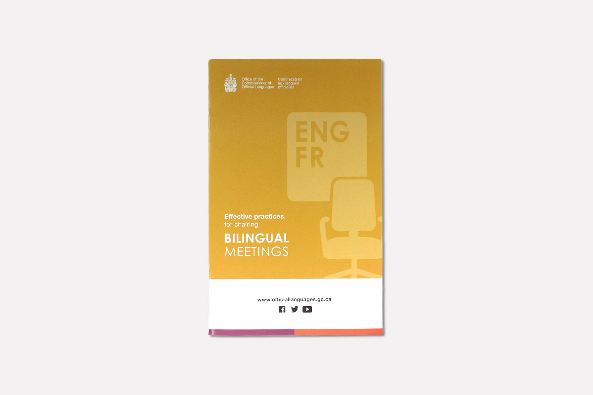 Effective practices for chairing bilingual meetings guide