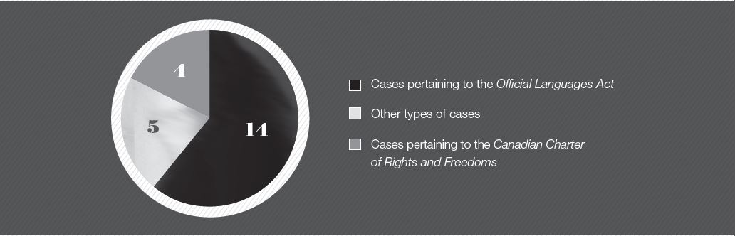 Figure 2 — Commissioner Fraser's participation in language cases, by type of case.
