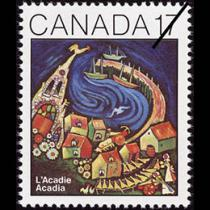 "Timbre poste ""Acadie"""
