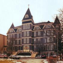 Main building at Université Sainte-Anne, Church Point, Nova Scotia.