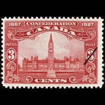 Bilingual stamps in 1927