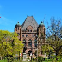 The Ontario Legislative Building located in Queen's Park, Toronto