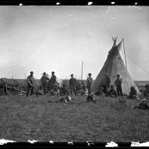 Métis camp on the Elbow of North Saskatechewan River