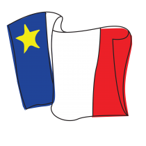 Acadian Flag Drawing