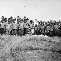 Indian School children, Mission at Hay River, N.W.T.