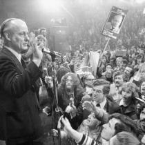 René Lévesque on provincial election night