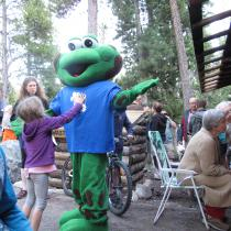 The mascot at the 2014 edition of the fête franco-albertaine