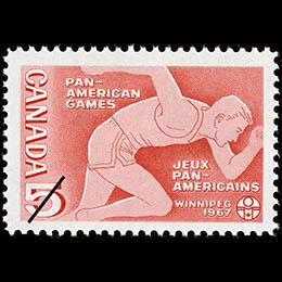 Stamp made for the Pan-American Games, Winnipeg, 1967