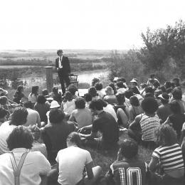 "Archive picture of the Festival ""On s'garroche à Batoche"""