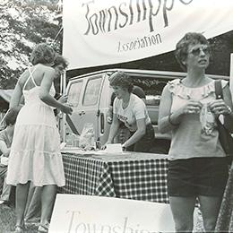 Picture of an event during Townshiper' Day, Hatley (Quebec) in 1981