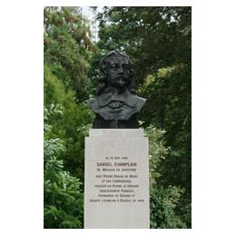 Bust of Samuel Champlain in Paris (France)