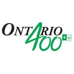 Logo of the celebrations for 400 years of French presence in Ontario