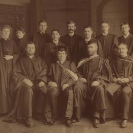Students and teachers at the Morrin College around 1891