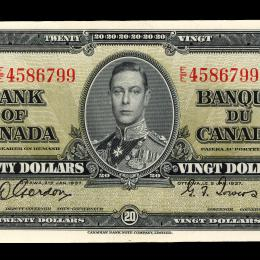 Banknotes with the portrait of King George VI