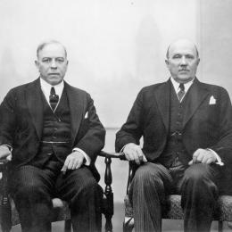 Portrait of Rt. Hon. W.L. Mackenzie King and Hon. Ernest Lapointe