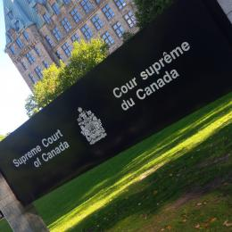 Sign of the Supreme Court of Canada