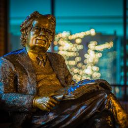 Bronze of Northrop Frye